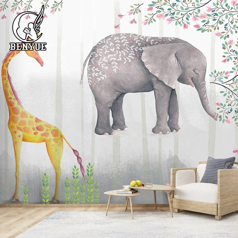 Custom made cartoon children wallpaper mural interior home decoration 3d wallpaper for kids room