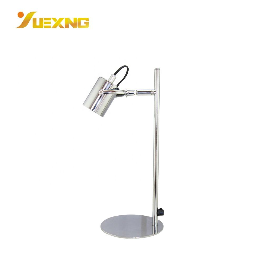 High Grade Traditional Led Silver Metal Decor Desk Reading Light Table Lamp With Shade