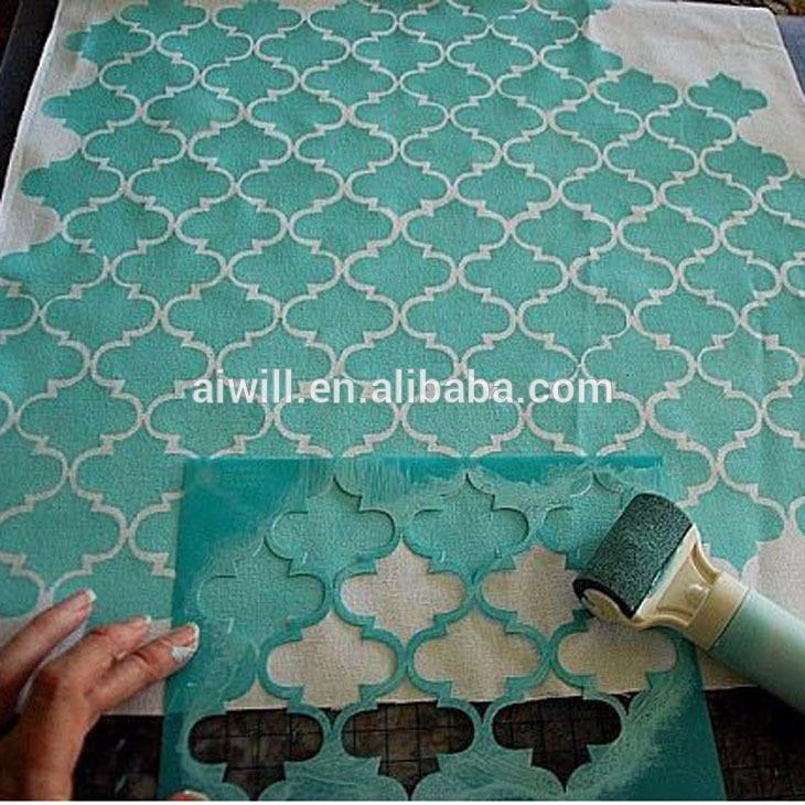 High quality custom stencil for DIY decoration PET material screen printing stencils