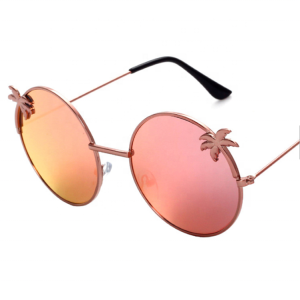 Fashion beach Outdoor High Quality Sunglasses Coconut trees Mold big sale for young Women 2019
