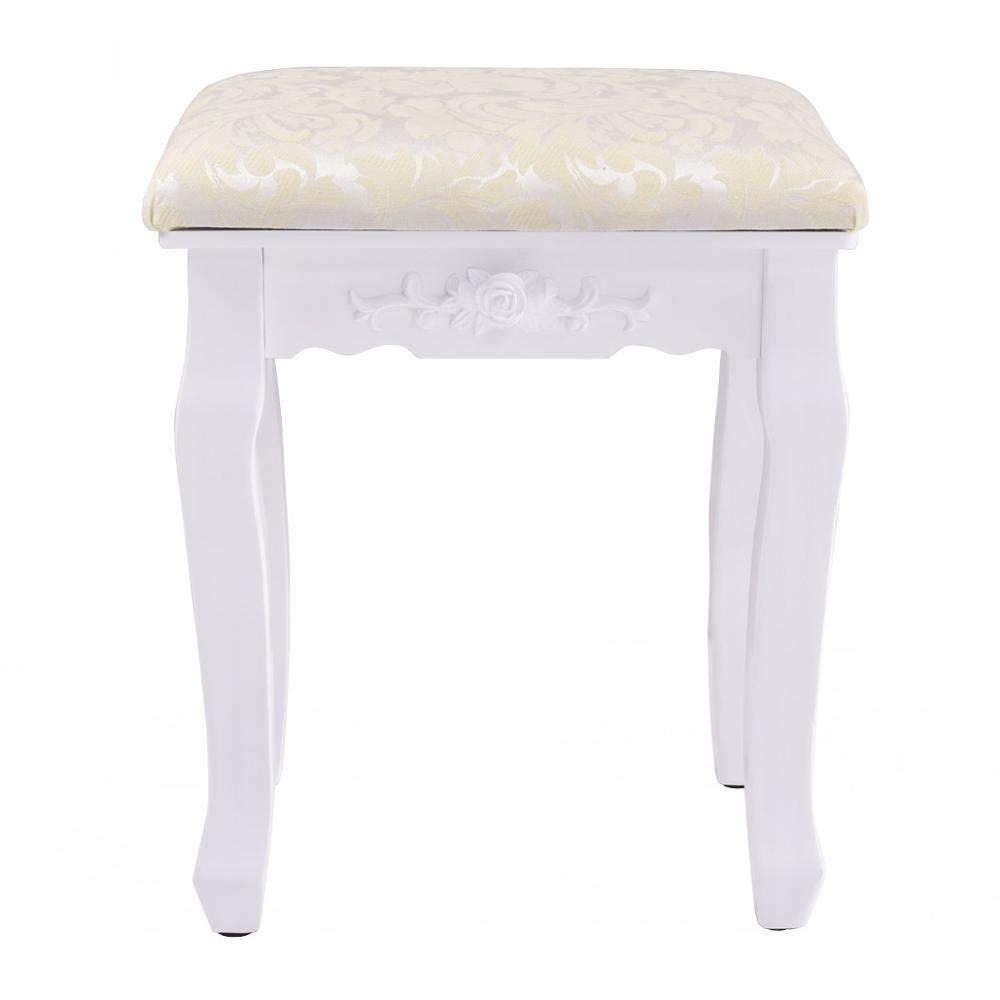 Home Use Wood Furniture Padded Dressing Table Stool