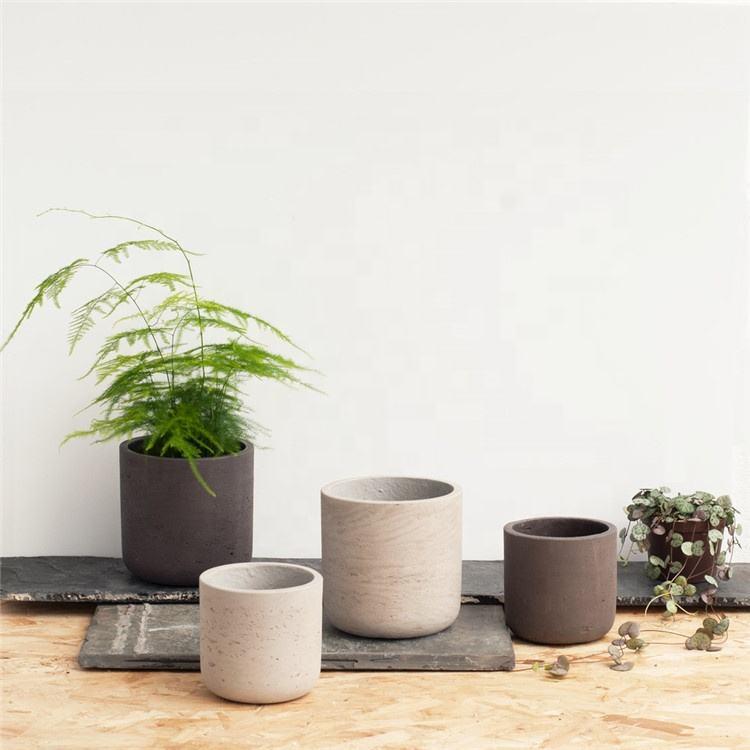 Creativo cilindro interior al aire libre de cemento ollas/jardín flor olla/Decoración de Casa moldes para jardineras de hormigón