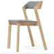 North European Style Solid Oak Restaurant Dining Chairs In Wood