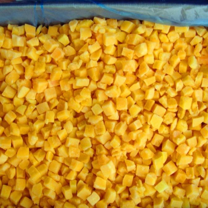New Crop iqf yellow peach cubes frozen organic yellow peach dices