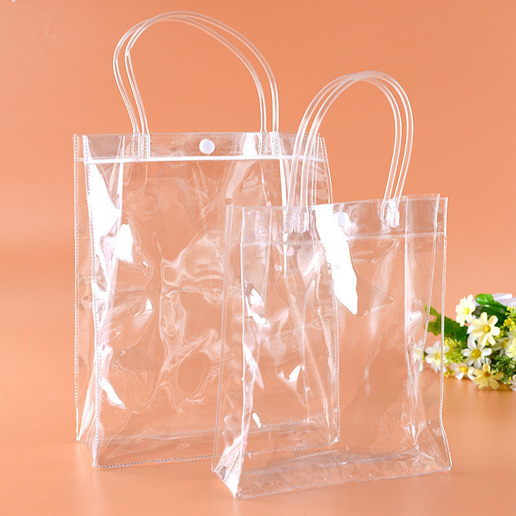 Zogift Custom design 2019 clear pvc tote bags ladies shoulder bag transparent shopping beach handbag for girls