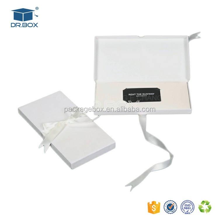 Custom design CMYK stampa biglietto da visita di credito scatola ponte/coupon scatola di carta