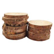 Eco-friendly natural pine wood round wooden disc for DIY