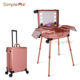 Aluminum LED Light Touch Screen Rolling Trolley Vanity Cosmetic Makeup Case 24 Inch