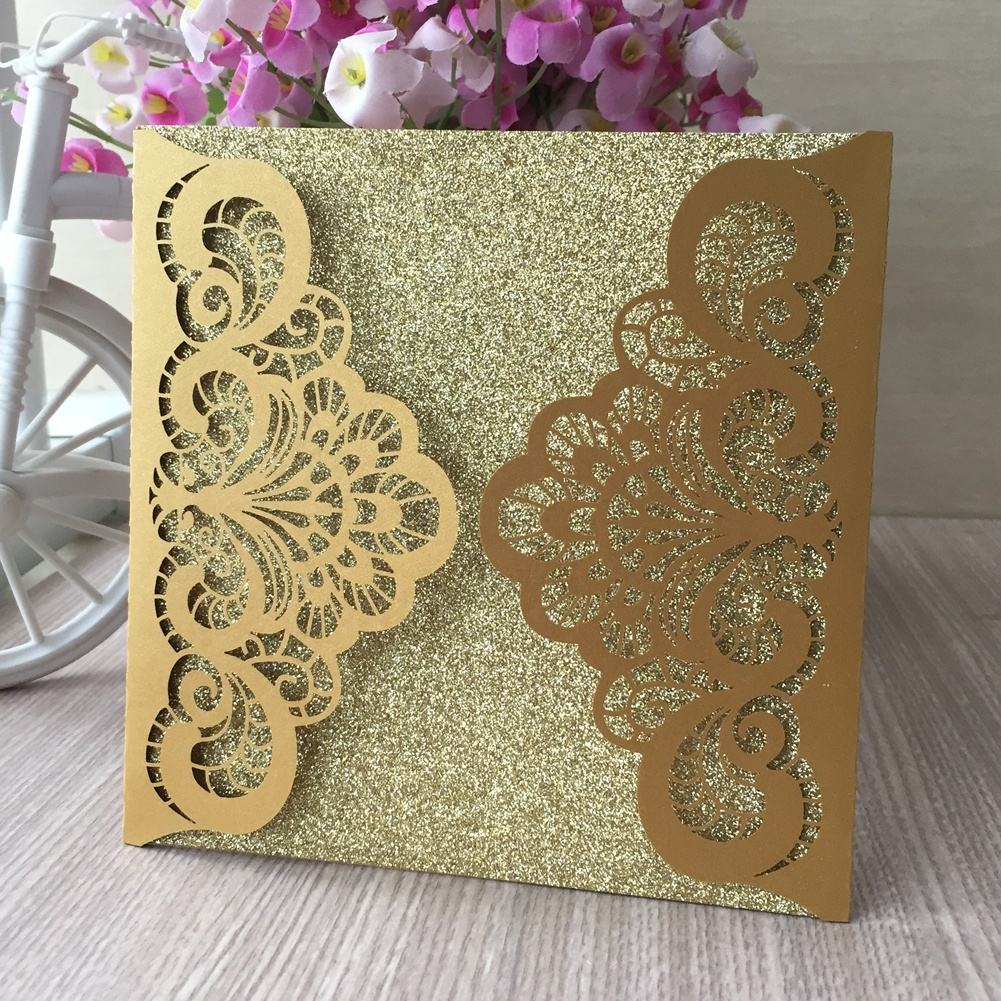 Sample Luxury Decoration With Lace Colours Invitations Card Wedding Invitations