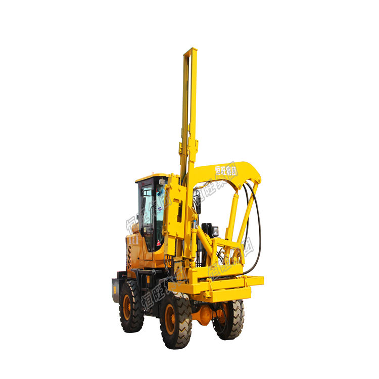 handheld pile driver Highway pile driver road fence pile drilling rig road drilling machine