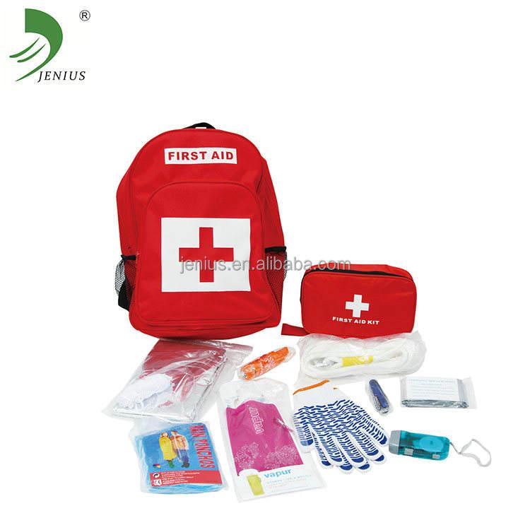 Endüstriyel sırt çantası için ilk yardım çantası naylon malzeme kullanarak deprem ile