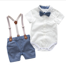Baby Boys Gentleman Clothes Set 2020 Summer  Party Birthday Infant newborn baby clothes