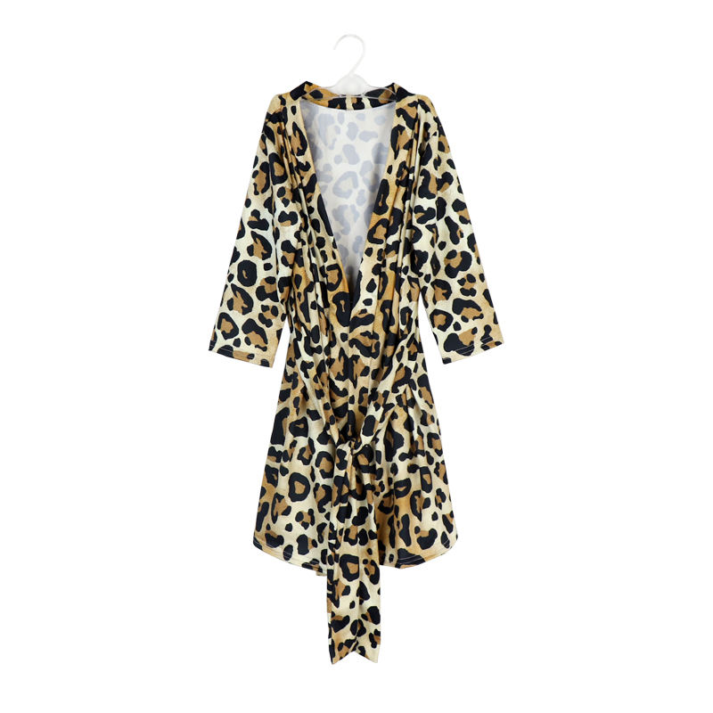 Woman Cheetah Kimono Robe Bridal Robe Bath Robe