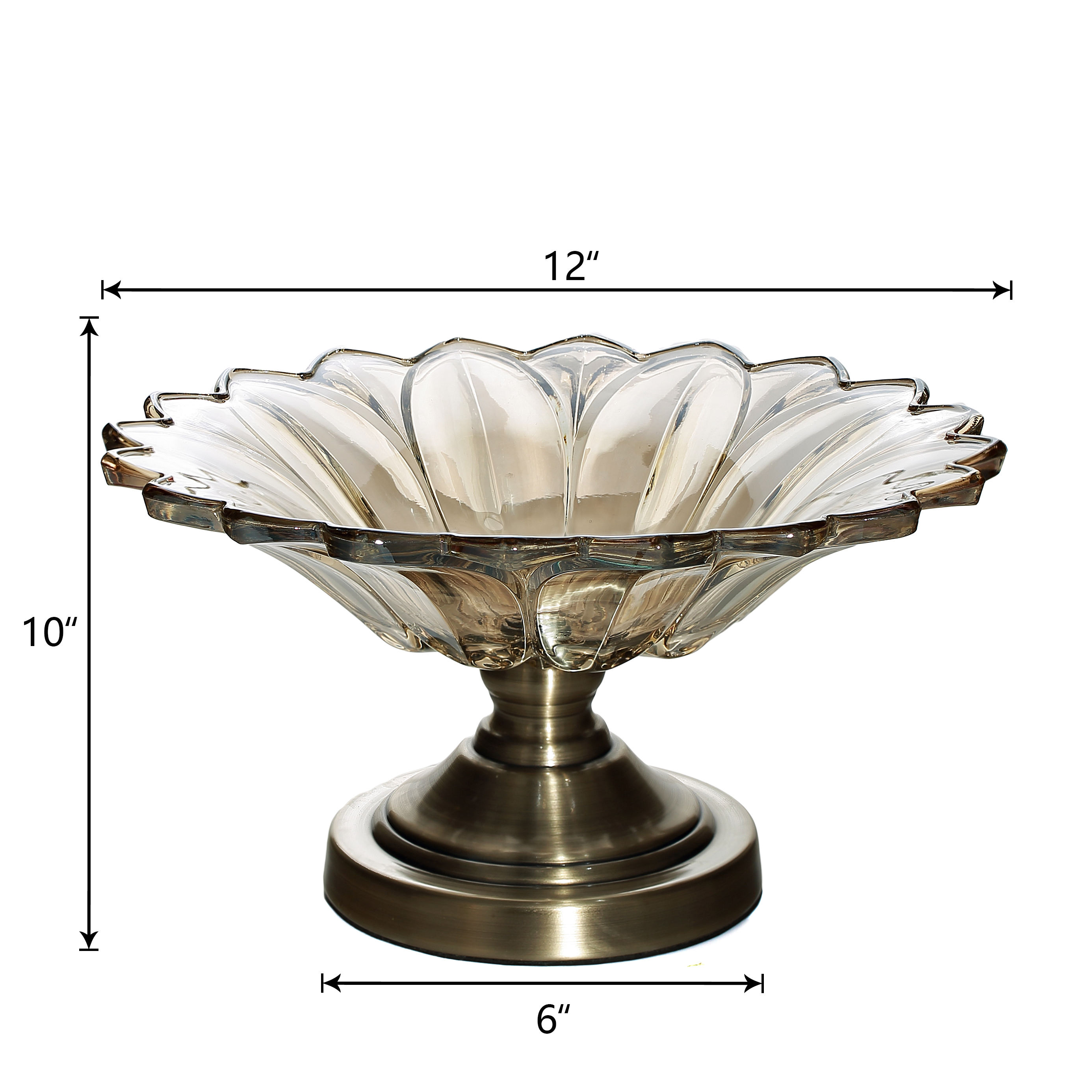 Centerpiece Footed Compote Glass Pedestal Bowl Decorative Fruit Display Stand Vase Candy Dish for Home Party Wedding
