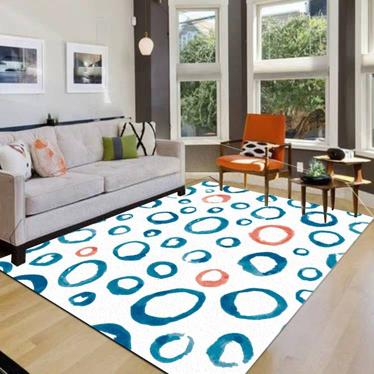3D Printed Nordic Style Modern Living Room Bedroom Non-slip Tile Carpet