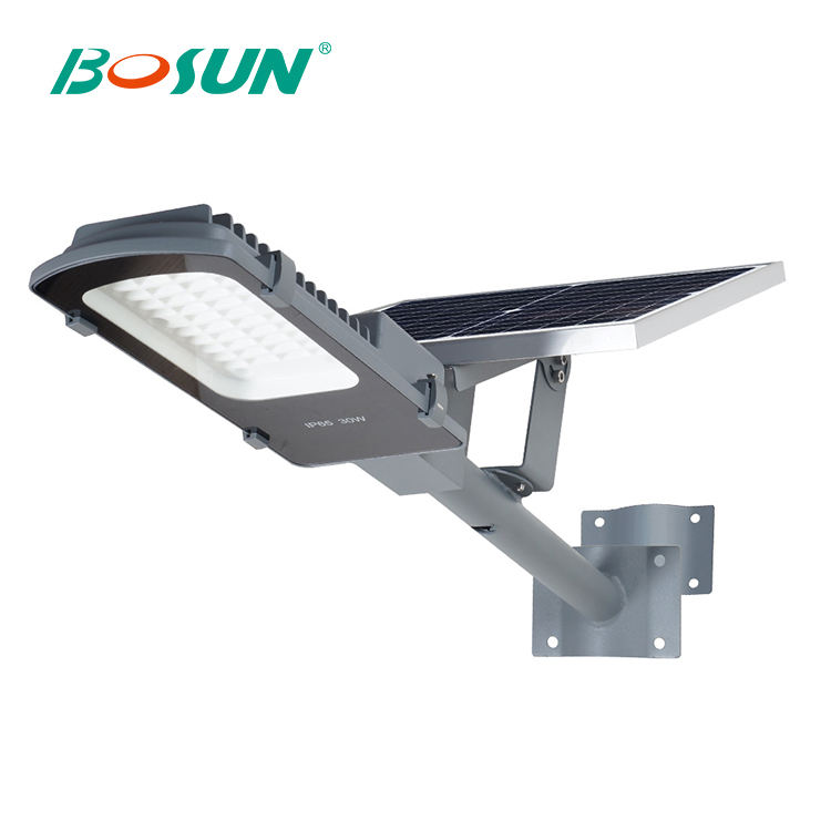 BOSUN Outdoor IP65 waterproof backyard garden Bridgelux 20w 30w 50w led sola street light
