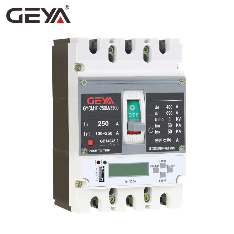 GEYA 125A 250A 400A 630A 800A Intelligente Elektronische type MCCB met Shunt Trip RS485 Functie Verstelbare Ampere MCCB