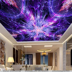 USB with remote control dynamic colorful light roof star ceiling design