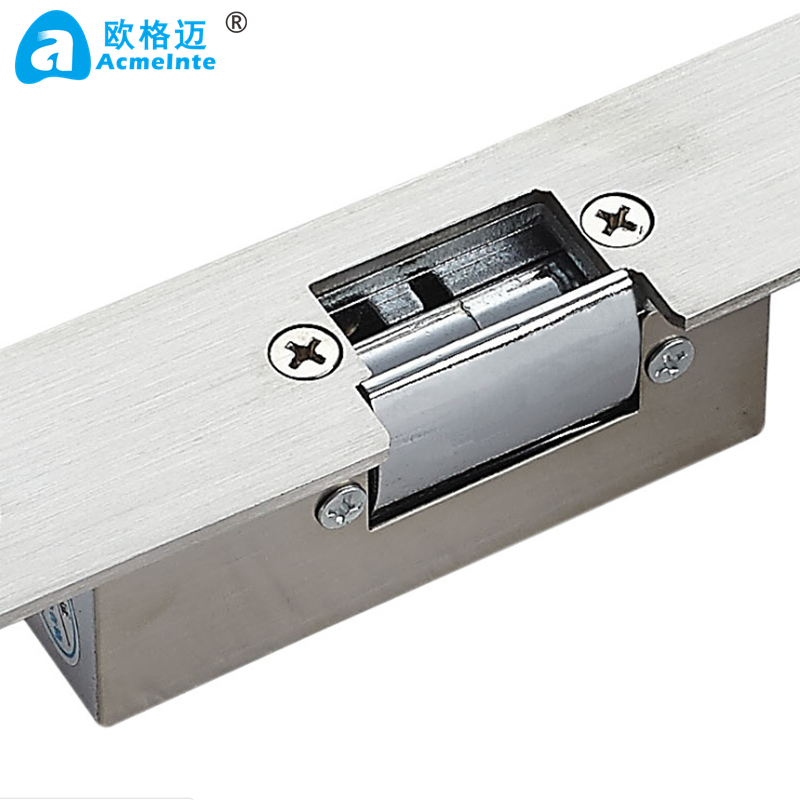 Long-type Narrow Mouth Hotel Waterproof Door Lock Electric Strike with NC-24V