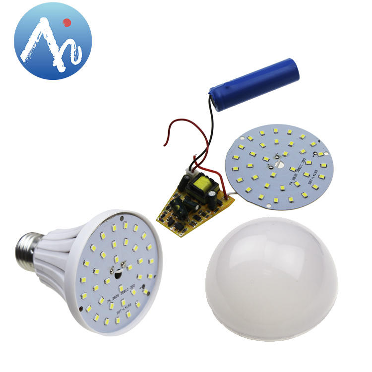 Anern plastic+aluminum emergency light rechargeable led bulb raw material