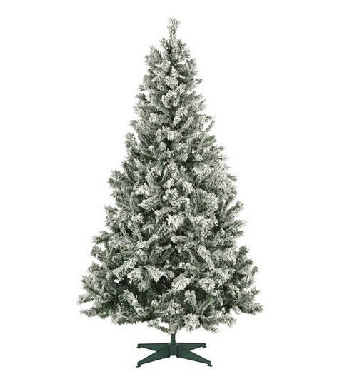 Miniature Falling Snow Small Wood Artifical Flocked Artificial Christmas Tree