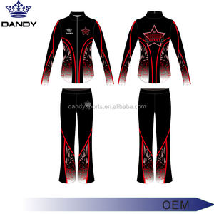 Custom 100% Polyester Tracksuits dancing wear warm up tracksuits