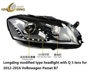 Longding light modified type headlight with Q 5 lens for 2012-2016 Volkswagen Passat B7