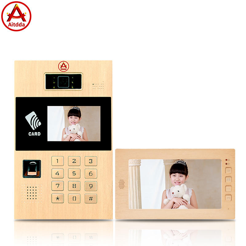 "Aitdda 10 ""Layar Warna Nirkabel Video Door Phone Bangunan Video Intercom Bel Pintu Masuk Access Sistem"