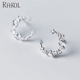 Rakol FE2149 Beautiful Shining Crescent Moon C Letter Shape Rhinestone Earrings For Girls