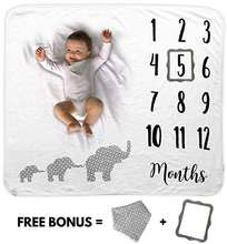 2019 super soft birthday photography baby monthly milestone blanket
