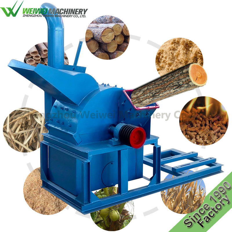 Weiewei corncob grinder wood working saw agricultural waste wood logs straw crusher cutter for pellet machine