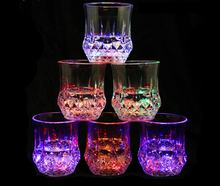 7 Color Changing Beer Drink Glass Halloween Xmas Party LED Light Wine Whisky Cup