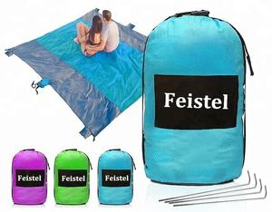 Outdoor lightweight Compact Camping Mat | Portable Waterproof Picnic Pocket Blanket Ultralight Sand Proof Beach Blanket