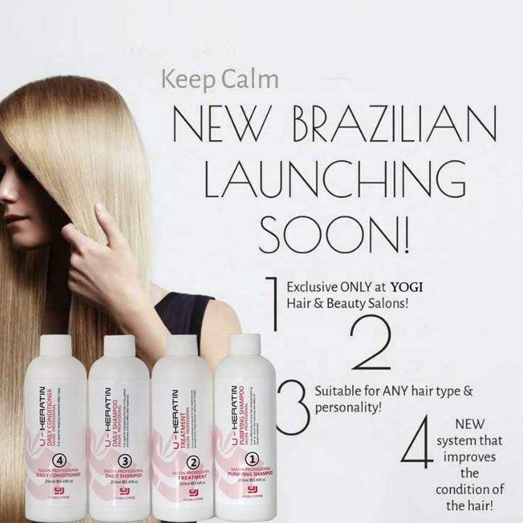 professional Brazilian keratin hair smoothing straightening treatment