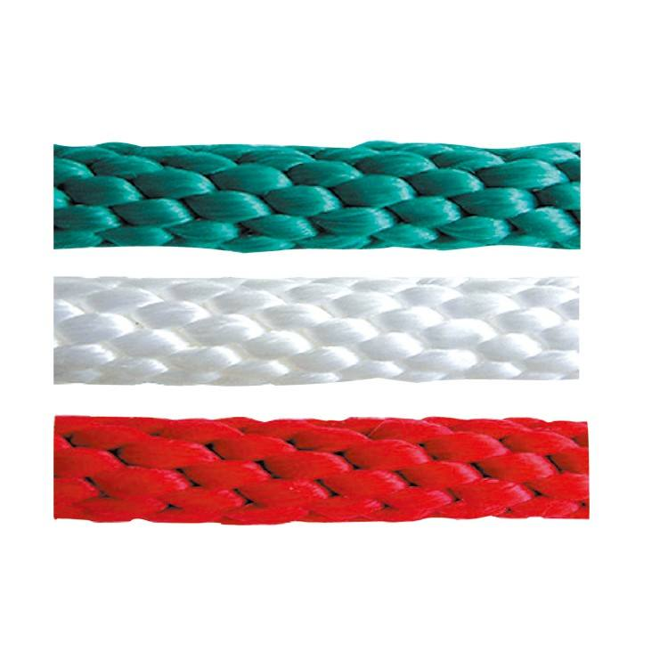 "Nylon Solid Braid Rope High Quality 1/2""x100' Pp Polyester Nylon Solid Braided Marine Rope For Mooring Shipping"