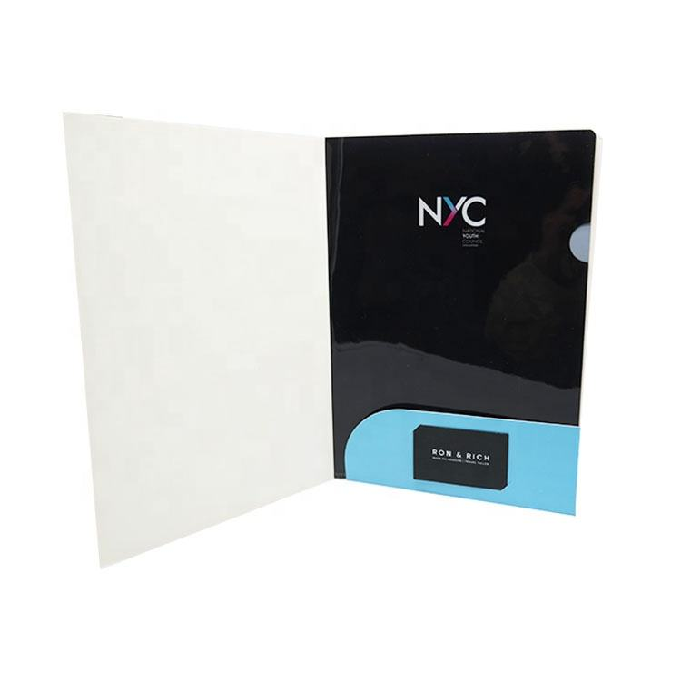 Wholesale Size Logo Paper Presentation Custom A4 File Folder With Pocket