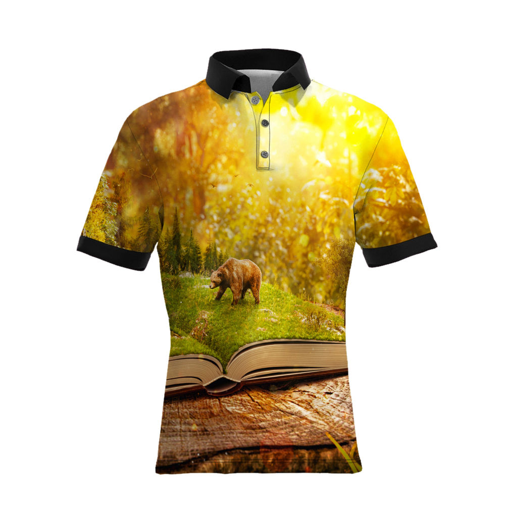 Print On Demand Wholesale Custom Print 3D T Shirt Men Ralph Polo Shirt, Dropshipping All Over Sublimation Printing Polo Shirt/
