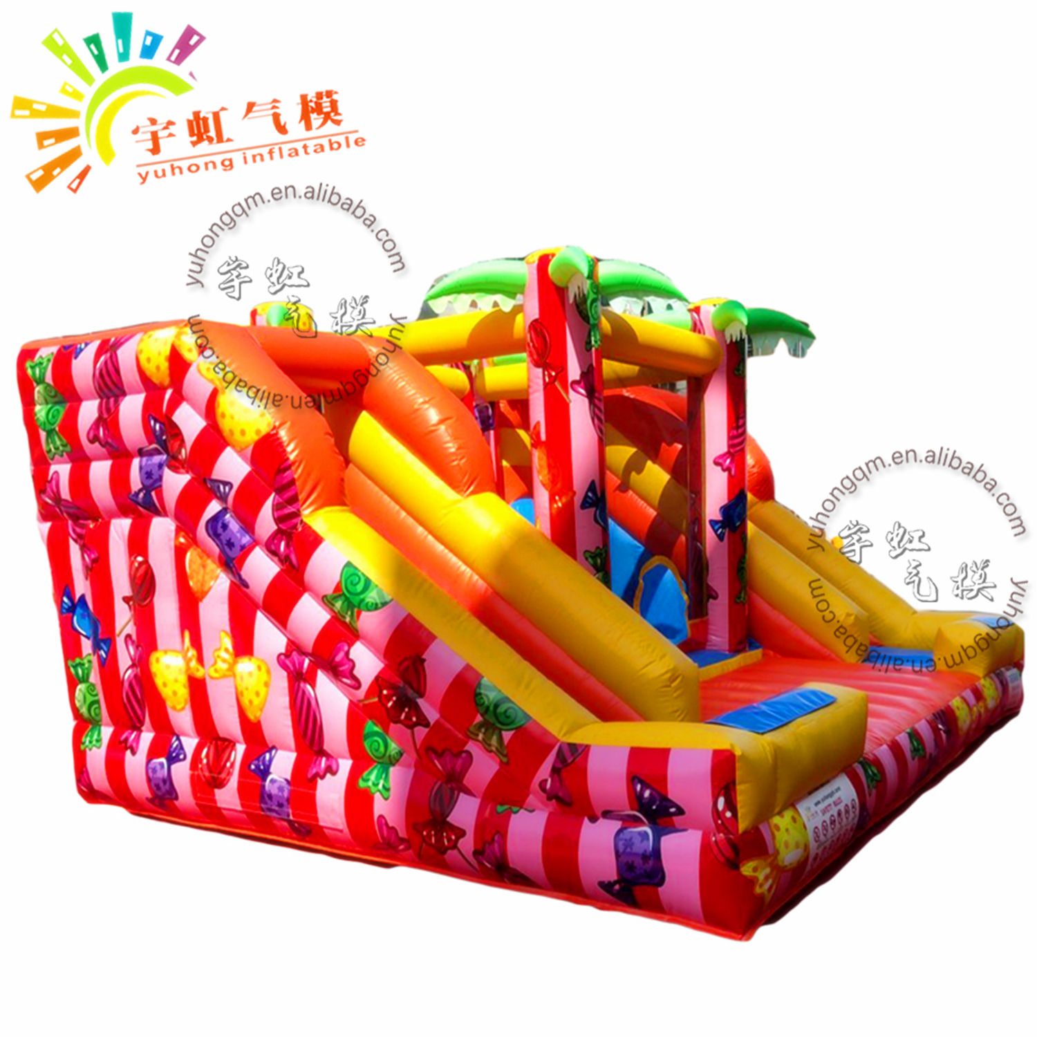 commercial bouncy castles with best quality/inflatable castle with slide with high quality