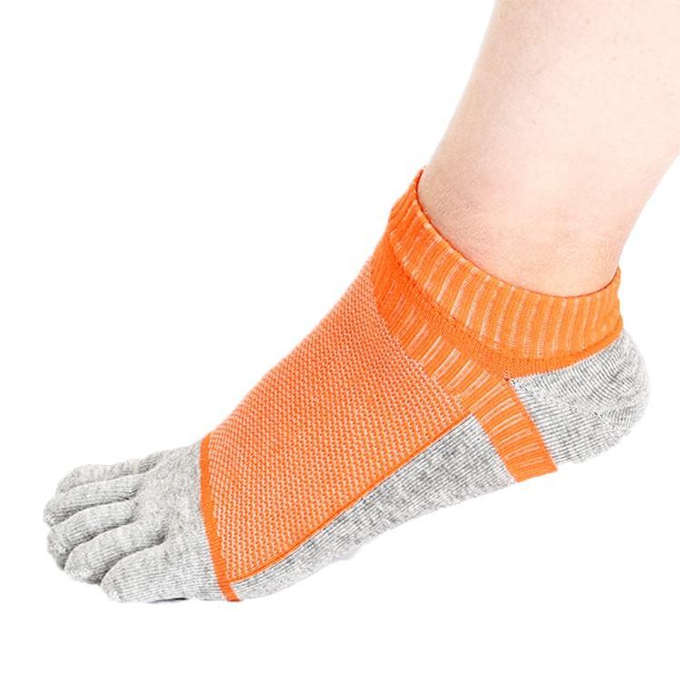 Custom men sport socks seamless soft cotton ankle toe socks
