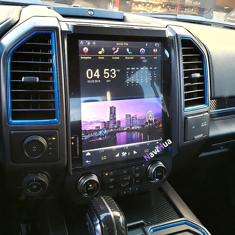 "NaviHua Android 12.1 ""Tesla Vertikale touchscreen auto <span class=keywords><strong>dvd</strong></span> für FORD F150 2014-2015 gps radio navigation multimedia system"
