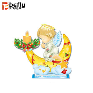 2019 Kids new year diy puzzle gift angle light up candle christmas electronic toy