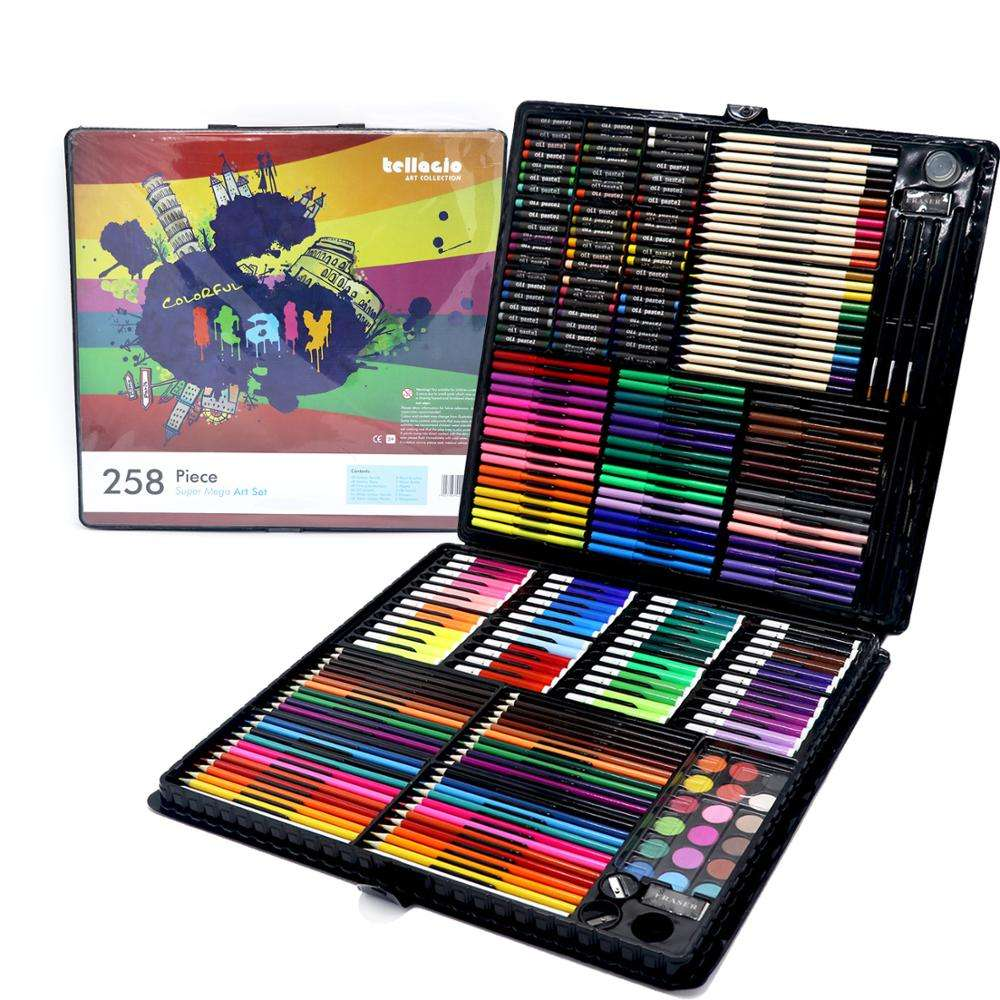 258 Piece Deluxe Art Drawing Painting Creativity Set For Beginners and Young Artists