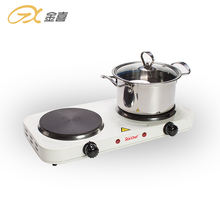 JX-6245A 2000W  Electric Double Burner Solid Hot Plate Cooking Stove