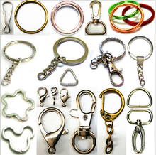 Wholesale various key ring split ring and key ring clip small quantity acceptable