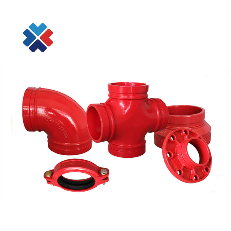 Ductile iron flange pipe fitting adaptor astm grooved threaded outlet pipe fittings flange spigot cast iron flange
