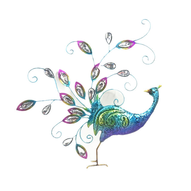 Metal Beautiful Peacock Wall hanging home decoration