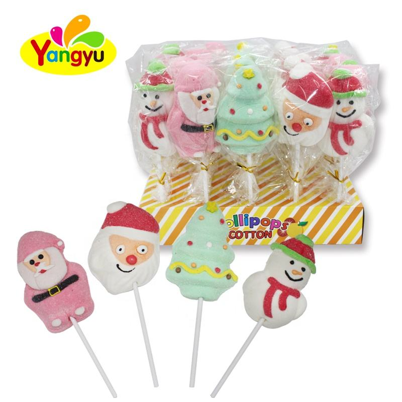Marshmallow Lollipop Süße Weihnachten Marshmallow Lollipop