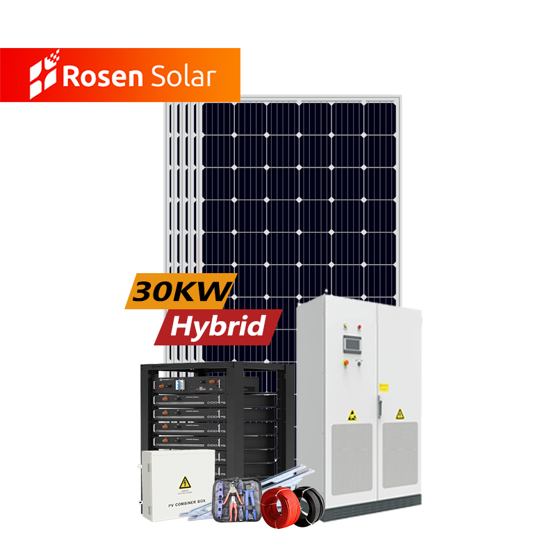 Ground/Roof Mounting 25 kw - 30 kw Hybrid System Use Solar Hybrid Inverter For Solar Home System