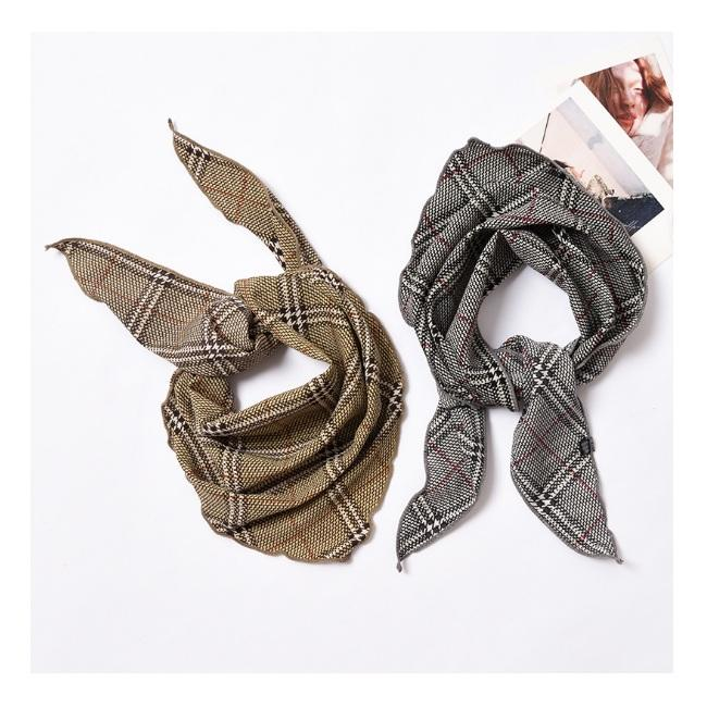Hot Selling 35*85cm TRIANGLE Design Small Hair Silk Scarf Excellent Satin Hair Tie Scarfs for Trendy Miss