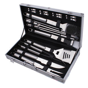 bbq tool set 18 piece,18-piece grill set with case